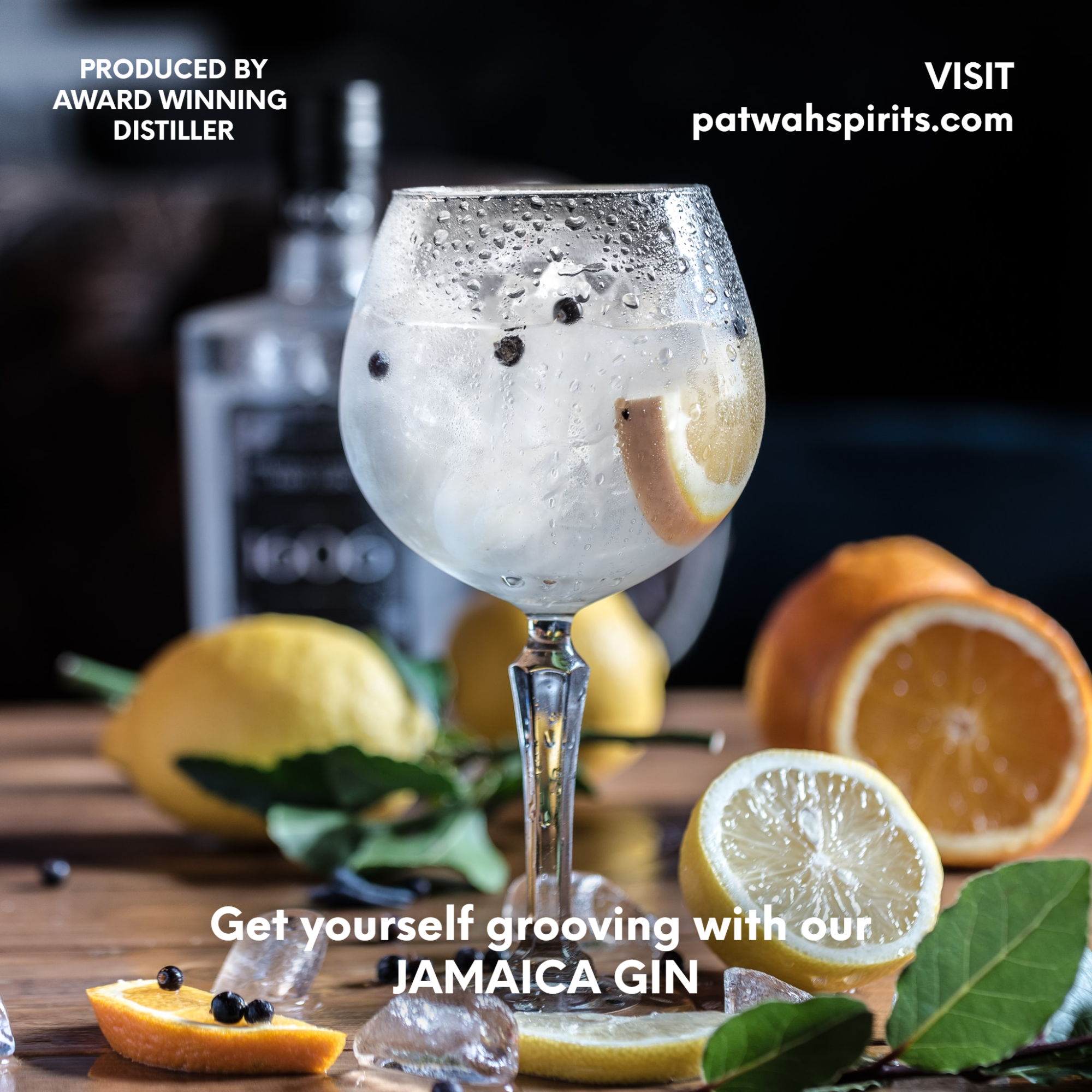 Glass of Sparkling Gin advert